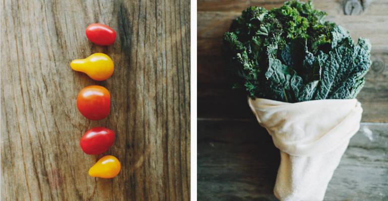 Sara's Arugula Caprese Kale Pesto Salad