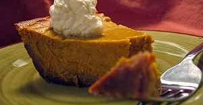 Gluten, Egg and Dairy Free Pumpkin Pie.