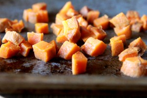 cubed sweet potatoes (2)