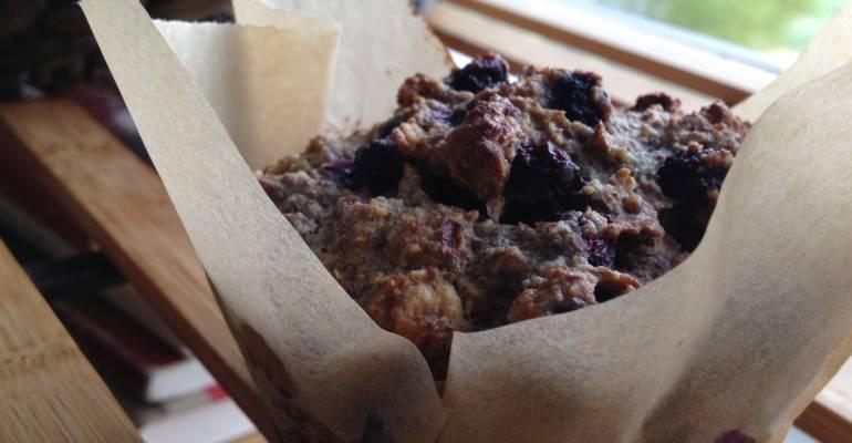 Gluten Free Blueberry Bran Muffins
